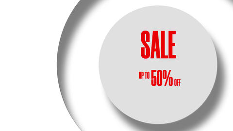 Sale Up To 50 Percents Off Text Looping Animation In The Circle 8K GIF