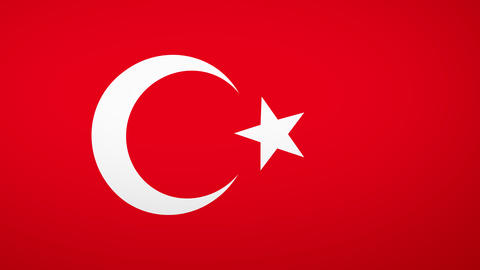 Turkey Flag Composition Animation