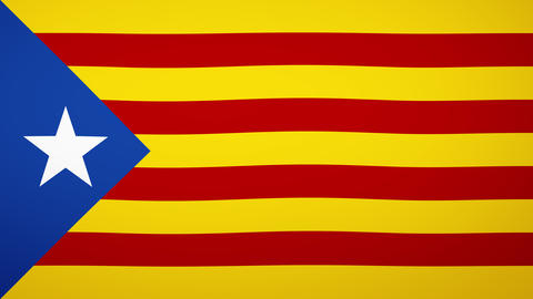 Independent Catalonia Flag Composition Animation