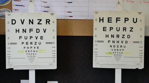 Optician special equipment for testing the eye sight Live Action