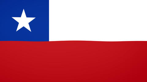 Chile Flag Composition Animation