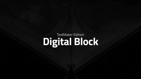 Titles Animator - Digital Block After Effects Template