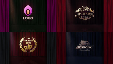 Opening Curtain Logo Reveal After Effects Template