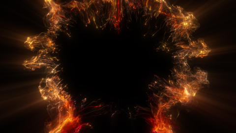 golden color shockwave heart shaped Valentine's Day explosion copy space 60 fps Animation