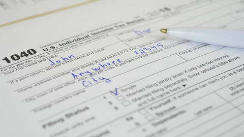 Taxes Form On Table For Business Live Action