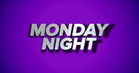 Dynamic Monday Night Title Page Background Animation Footage