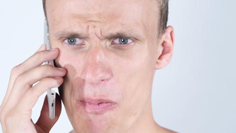 Furious man on the phone, Angry Live Action