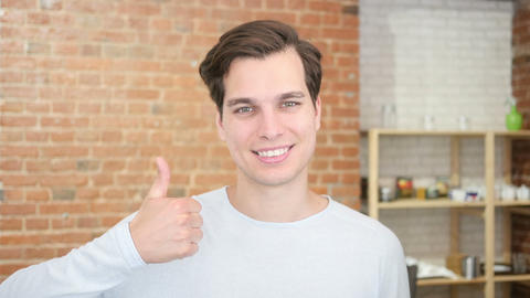 education and school - happy student showing thumbs up Footage