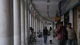 Shopping street on Connaught Place,New Delhi,India Footage