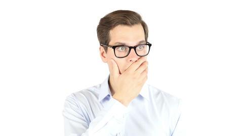 businessman gets very bad news , shocked , amazed Footage