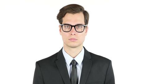 Portrait of a serious businessman Footage