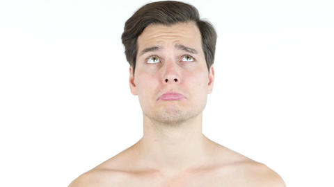 Portrait of a man with angry expression Footage
