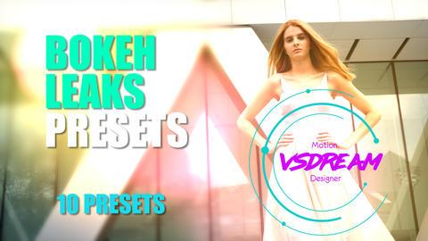 Bokeh Light Leaks Presets Premiere Pro Template