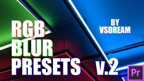 RGB Blur Presets v 2 Premiere Proテンプレート
