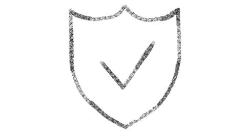 web security icon designed with drawing style on blackboard, animated footage Photo