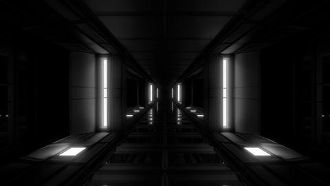 clean futuristic scifi tunnel corridor with nice reflections 3d rendering motion Animation