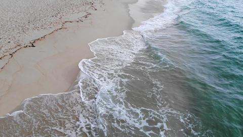 Fresh ocean water at a sandy beach in paradise Footage