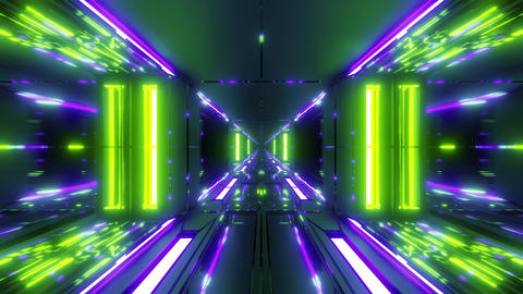 futuristic scifi tunnel corridor with nice glass bottom and windows 3d rendering Animation