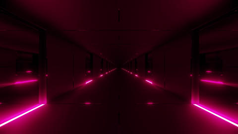 clean realistic futuristic scifi tunnel corridor with nice glow 3d rendering Animation