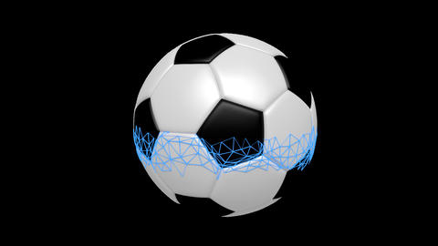 Soccer Ball Rotating Animation