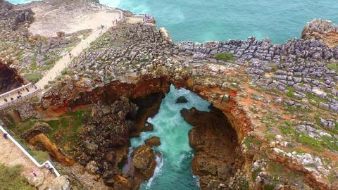 Famous landmark in Portugal - Boca do Inferno Live Action