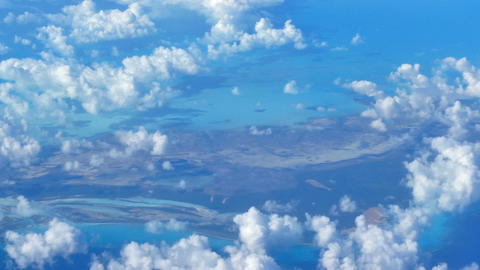 Caribbean island seen from a commercial airplane Live Action