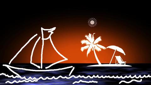 TROPICAL ISLAND banner Animation
