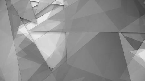 Rotating trasparent grey triangles background loop Animation