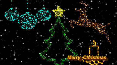 GLITTER HOLIDAY GREETINGS ornaments Animation