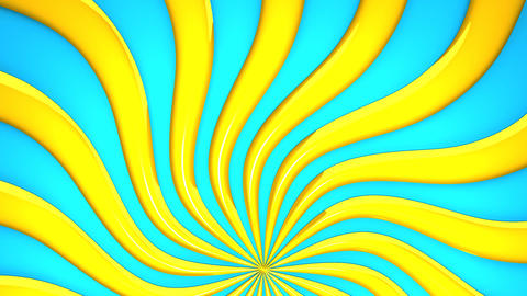Abstract Yellow Wave On Blue Background Videos animados