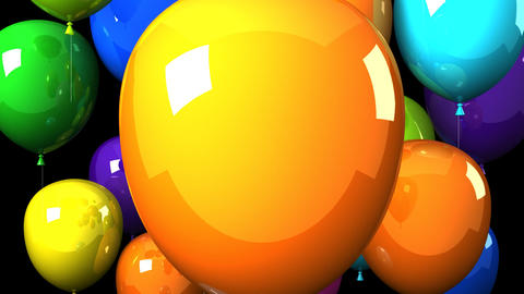 Colorful Balloons On Black Background Videos animados