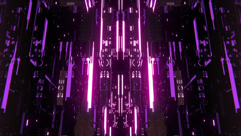 VJ 3D Techno Space Animation
