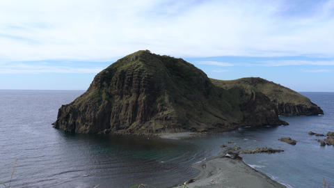 Niigata,Japan-October 20, 2019: Futatsugame island or two turtles island in Sado island Footage