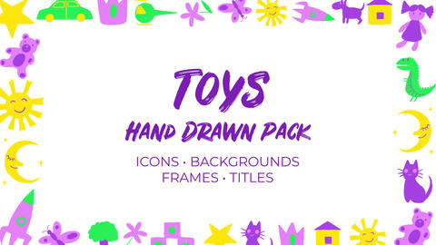 Kids & Toys. Hand Drawn Pack After Effectsテンプレート