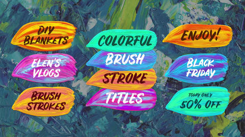 Colorful Brush Stroke Titles After Effectsテンプレート