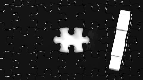 Black Jigsaw Puzzle Animation