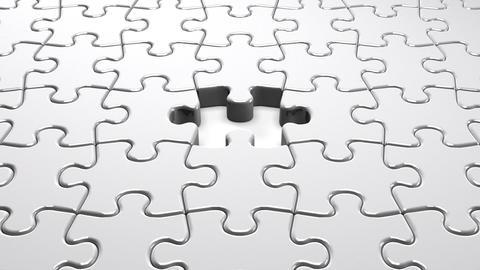 White Jigsaw Puzzle Animation