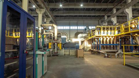 compressor near service grounds in workshop timelapse Live Action