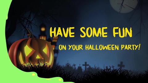 Halloween Party Elements And Titles モーショングラフィックステンプレート