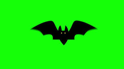 Spooky Halloween Bat Hovering Against Green seamless loop Background. 4k Videos animados