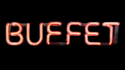 Isolated Neon Buffet Animation