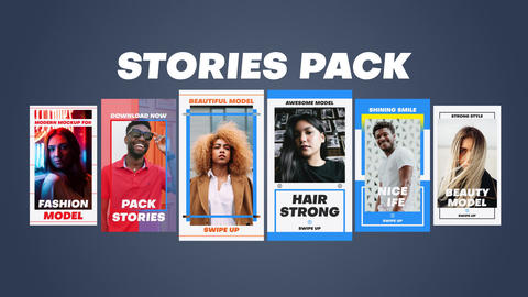 Stories Pack Plantilla de After Effects