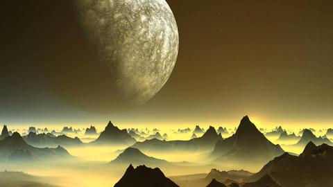 Alien Planet and Sunrise CG動画