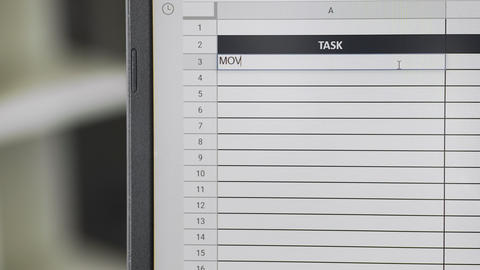 Person marking task MOVING in online plan, to-do list ビデオ