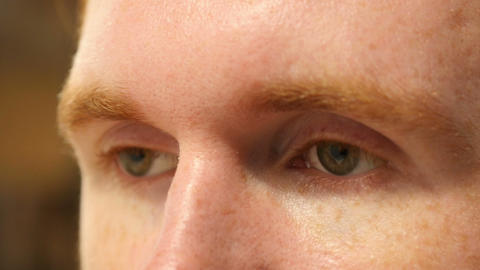 Close up of mans eyes Footage