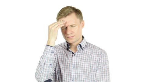 Man having a headache Footage