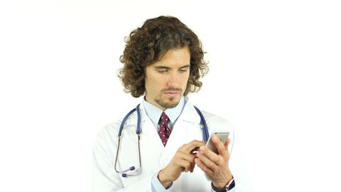 doctor using smartphone Footage