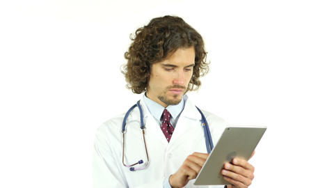 Doctor using tablet computer Footage