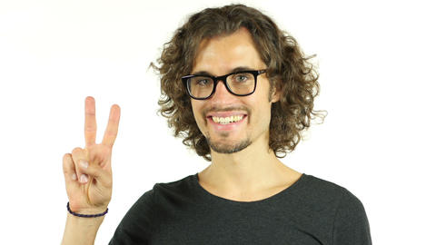 Man showing his happiness , smiling , portrait Footage