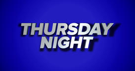 Dynamic Thursday Night Title Page Background Animation Footage